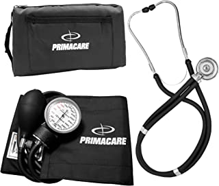 Primacare Medical Supplies DS-9181 - Tensiómetro de brazo manual, incluye estetoscopio Sprague-Rappaport, color negro