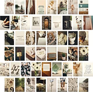 HerZii Prints Aesthetic Picture for Wall Collage, 4x6'' Boho Cards, Collage Print Kit, Warm Color Trendy Room Decor for Gi...