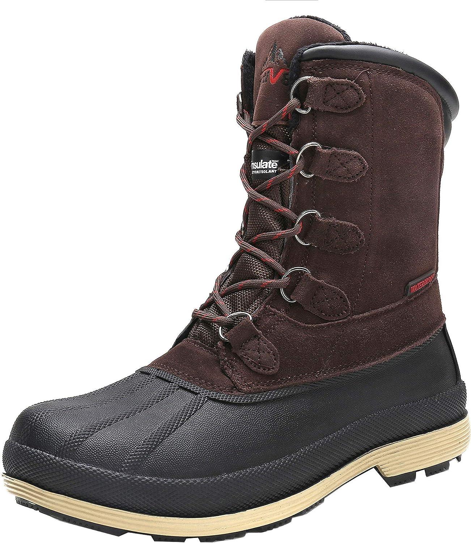   NORTIV 8 Men's Insulated Waterproof Work Winter Snow Boots   Snow Boots