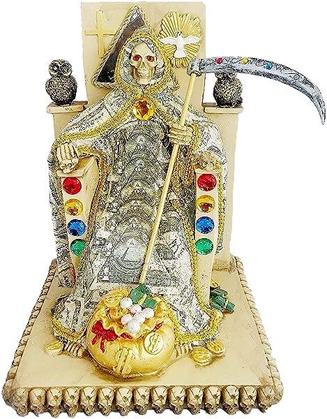 WIN 12 Inch Money Statue La Santa Santisima Muerte Holy Death Grim Reaper Figurine