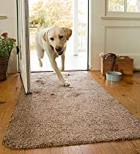 Plow & Hearth Mud Rug Runner, Absorbent Dirt Trapping Machine Washable, Non Slip..