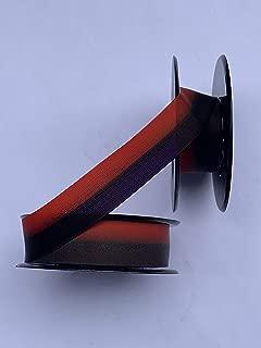 Universal Typewriter Ribbons - Custom Color Twin Spool Typewriter Ribbons (Purple and Orange)