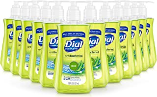 Dial Antibacterial Liquid Hand Soap, Aloe, 7.5 Fluid Ounces (Pack of 12)