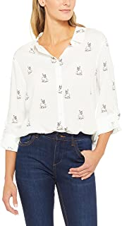French Connection Women's Bunny Core Shirt, White (
