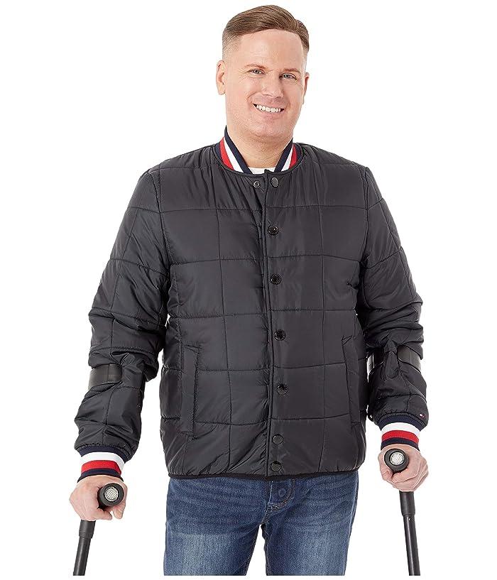Tommy Hilfiger Adaptive  Modular Baseball Jacket (Jet Black) Mens Clothing