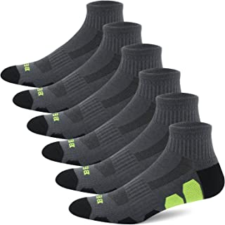 BERING Men's Performance Athletic Ankle Running Socks (6 Pack)