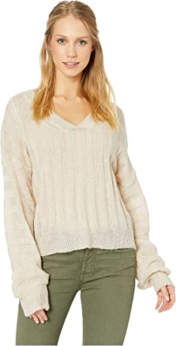 Wide Rib V-Neck Sweater