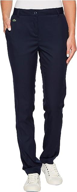 Lacoste - Technical Gabardine Straight Leg Trousers