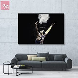 GoGoArt ROLL Canvas print wall art panorama photo big picture poster modern (no framed no stretched not oil painting) LeBron James Cleveland Cavaliers nba mvp sport dunk A-0102-1.5 (24 x 36 inch)
