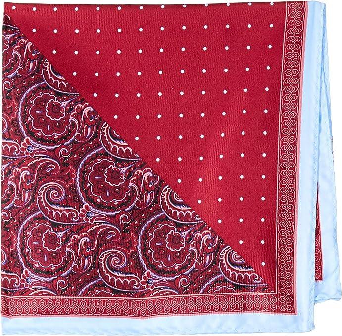 Van Heusen Men's Pocket Square Red Dot, Red, One Size