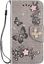 Herbests Beschermhoes compatibel met Samsung Galaxy S9 Flip portefeuille, magnetisch, PU-leer, folio bookstyle, glitterblo...