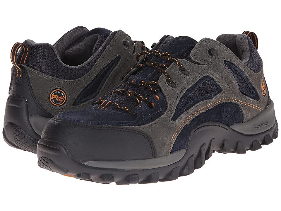 Timberland PRO Mudsill Low Steel Toe (Titanium/Sapphire Leather With Mesh) Men's Industrial Shoes