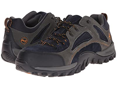 Timberland PRO Mudsill Low Steel Toe (Titanium/Sapphire Leather With Mesh) Men