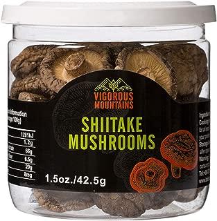 VIGOROUS MOUNTAINS Dried Shiitake Mushrooms 1.5 Ounce Shitake Mushroom