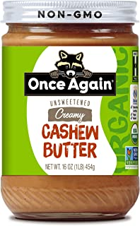 Once Again Creamy Cashew Butter, Unsweetened, 16 oz