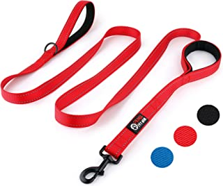 Primal Pet Gear Dog Leash 8ft Long - Traffic Padded Two Handle - Heavy Duty - Double Handles Lead for Control Safety Train...