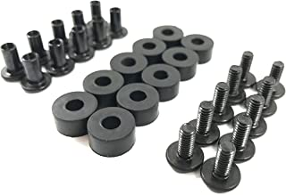 Gun Guy Gear - Black Chicago Screw - Binding Post Kit - Open Back Slotted Fasteners for Kydex Holsters - 10 Pack Sets (1/4
