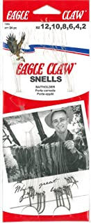 Eagle Claw 139RQH Assorted Bait Holder Snell Fish Hook, 24 Piece, Red