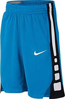 NIKE Boy's Dry Elite Stripe Basketball Shorts (Equator Blue/Black/White, Medium)