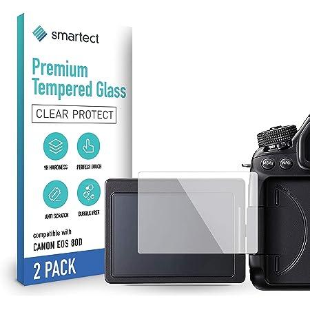 Smartect Schutzglas Kompatibel Mit Canon Eos 80d 2 Stück Tempered Glass Mit 9h Härte Blasenfreie Schutzfolie Anti Kratzer Displayschutzfolie Elektronik