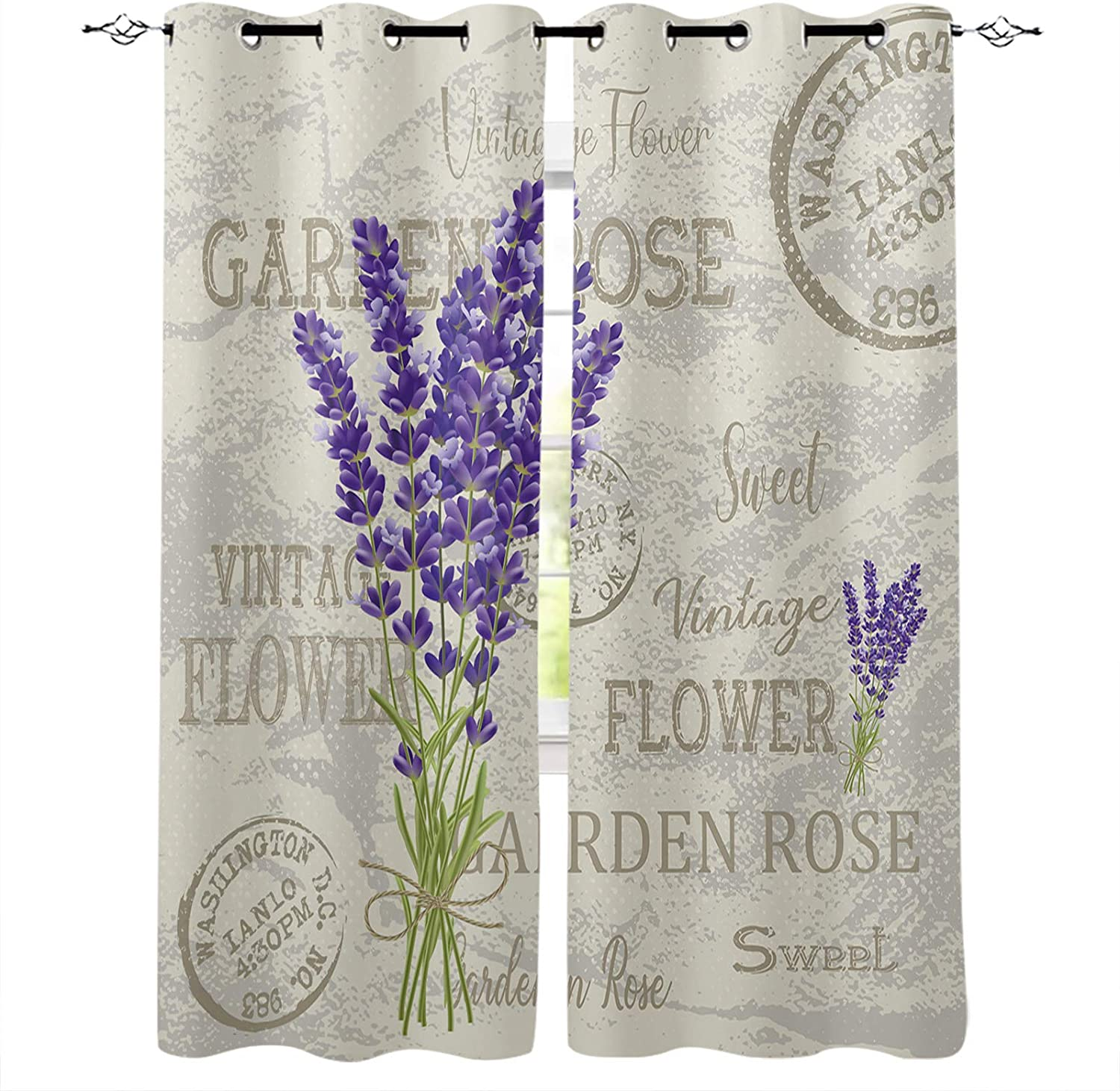 Blackout Curtains 96 Inch Long Pos Lavender Vintage El Paso Mall Bedroom Ranking TOP1 for