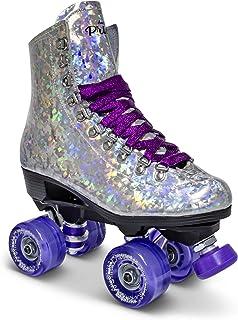 Sure-Grip Prism Sparkling Unisex Roller Skates – Indoor Outdoor Skates with Vegan..