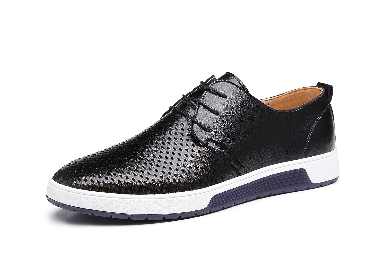 [ファッションホール] メッシュ ビジネスシューズ メンズ 革靴 レザー レースアップシューズ 軽量 通気性 紳士靴 通勤&通学 おしゃれ 滑り止め カジュアルシューズ 24cm-29cm