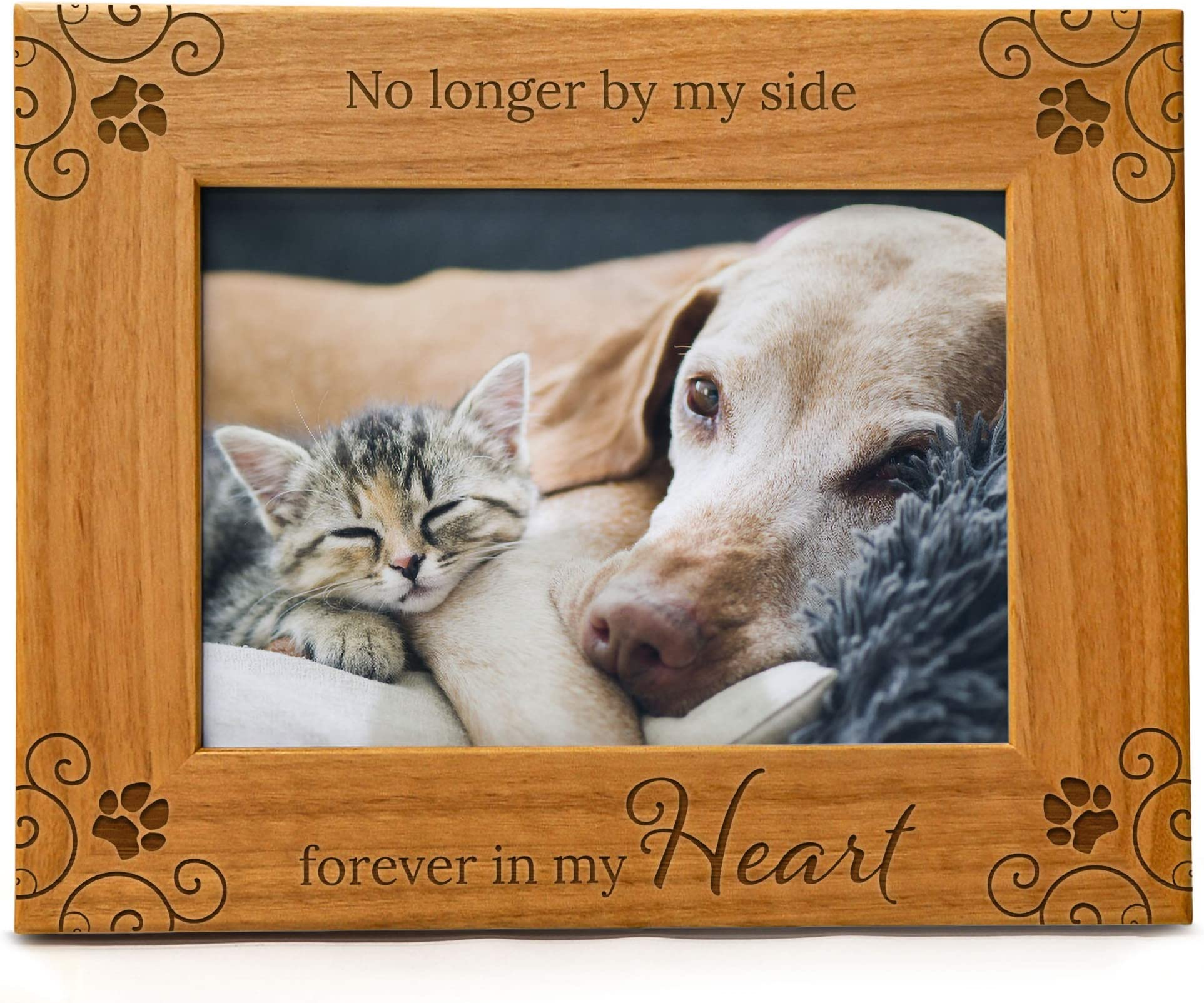 Personalised Engraved Paw Print Photo Frame 6x4 5x7 Pets Gifts Ideas For Presents Dogs Puppy Cat Present Puppies Memorial Funeral Memory In