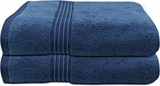 Home Set of 2 Soft Bath Shower Towels, 100% cotton towels, Dry and Absorbent, soft and luxury, 5 stars hotel quality, up t...