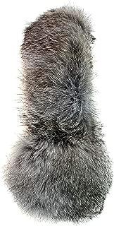 Genuine Grey Rabbit Fur Earmuffs with Soft All Fur Non Adjustable All Fur Head Band, Winter Fashion Ear Warmers, Perfect Elegant Women's Luxury Gift