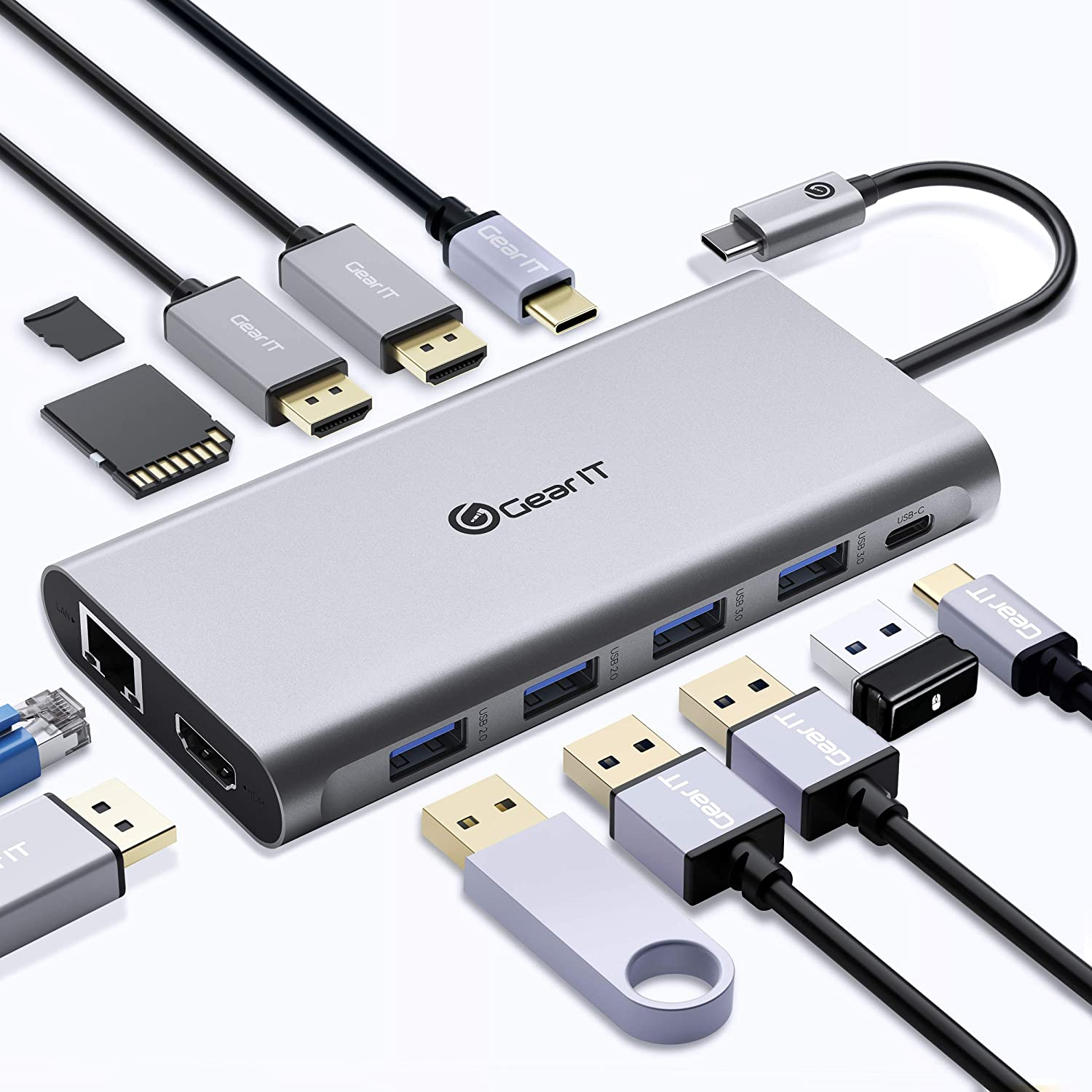 GearIT USB C Hub 12-in-1 with Delivery Power Credence San Diego Mall 100W PD USB-C