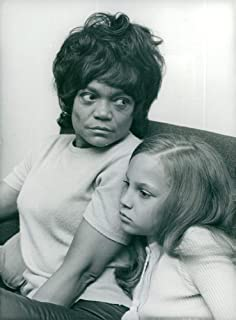 Vintage photo of Eartha Kitt with her little daughter Kitt