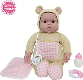 """JC Toys, Lots to Cuddle Babies Bed Time Friend – 15"""" Soft Body Baby Doll & Accessories, Beige"""