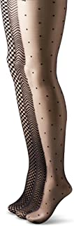 Hanes Silk Reflections Women's 3 Pack Zig Zag Check Dot Control Top Tights