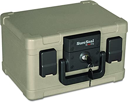 SureSeal by FireKing SS102 1/2 Hour Fireproof/Waterproof Safe Chest, Fits #10 Envelopes, 0.15 CU FT Storage Capacity