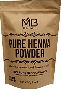 MB Herbals Henna Powder 227 Gram | 8 oz / 0.5 lb | For Natural Orange-Red Hair Color | Triple Sifted | Raw | Non-Radiated ...