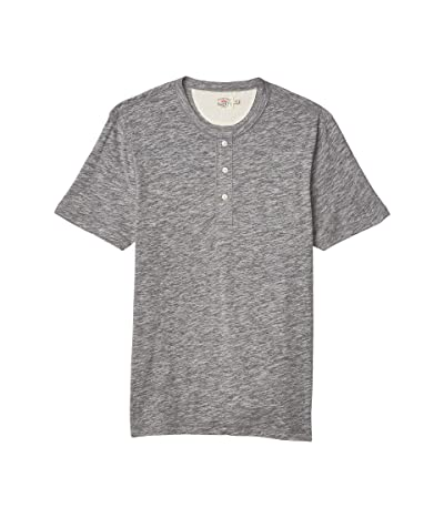 Faherty Short Sleeve Heather Henley (Charcoal) Men