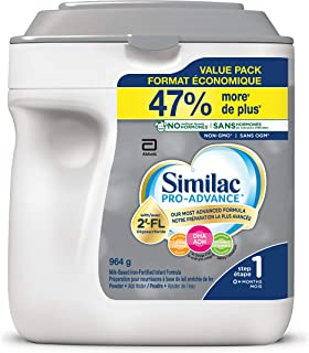 Similac Pro-Advance® Step 1 Baby Formula, 0+ Months, with 2'-FL. Immune Support Innovation: 2'-FL, Powder, 964g