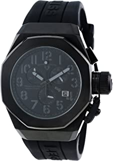 Swiss Legend Men's 10542-BB-01-GRYA Trimix Diver Chronograph Black Dial Black Silicone Watch