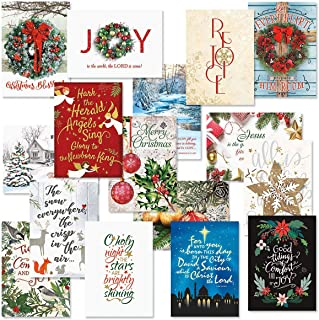 Expressions of Faith Christmas Card Assortments - Holiday Greeting Cards, Set of 32, Large 5