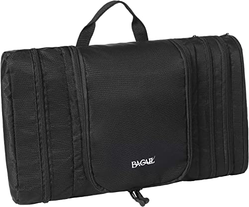 Bagail Men & Women Waterproof Flat Toiletry Kit, Portable and Spacious Travel Cosmetic Organizer Bag for Travel Acces...
