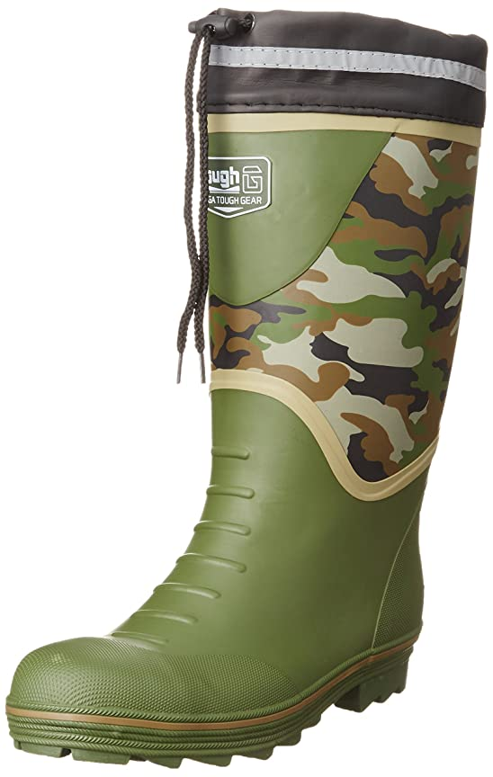 完了ポジションレベル[キタ] 安全長靴 作業長靴 メガセーフティ 迷彩プリント カバー付き KR-7260
