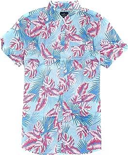 American Eagle Men's Seriously Soft Button Down Print Shirt