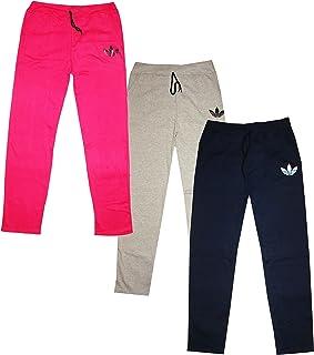 KIFAYATI BAZAR Women's Cotton Hosiery Solid Pajama (Pack of 3) (Women girls track pant lower multi color_Multicoloured_Fre...