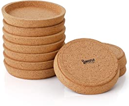 Sweese 241.101 Cork Coasters - 4 Inch Perfect for Most Kind of Mugs - Protect Your Table from a Liquid Ring - Set of 10