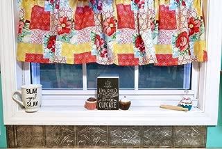 Patchwork Farmhouse Cotton Valance Sale Cotton Window Curtain Treatment 60W x 15L