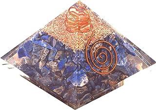 Emf Protection Orgone Pyramid, Healing Crystals Chakra Stones Reiki Energy Meditation Negative Ion Generator Pyramid For P...