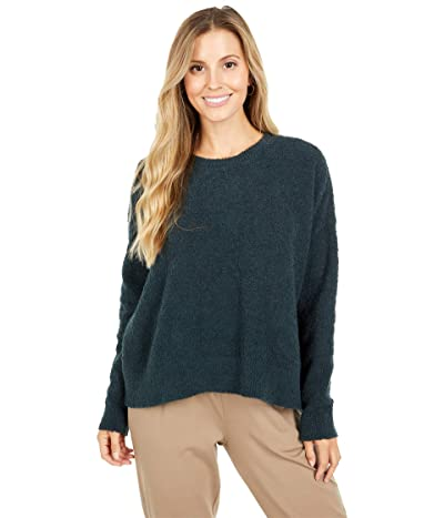Eileen Fisher Organic Cotton Boucle Sweater (Forest Night) Women