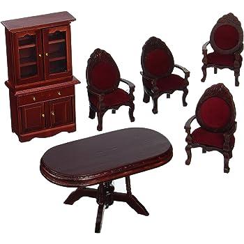 Melissa & Doug Doll-House Furniture- Dining Room Set