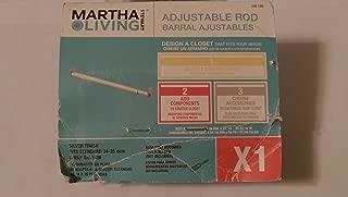 Martha Stewart Living 24 in.- 35 in. Adjustable Silver Rod